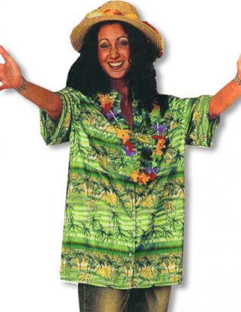 Hawaiian Shirt Palms Green