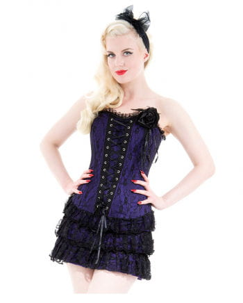 Gothic purple mini dress with lace