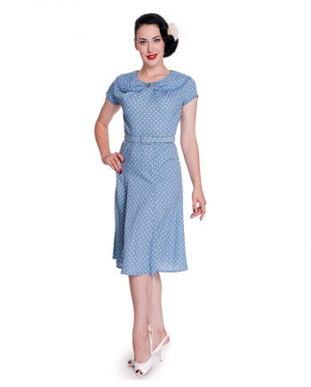 Hell Bunny polka dot dress blue