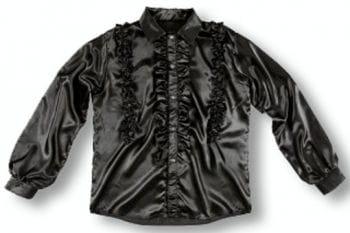 Hemd mit Rüschen Schwarz