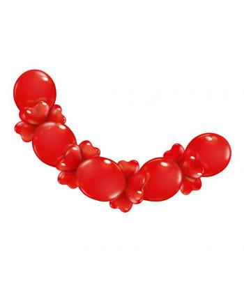 Herzluftballons Girlande