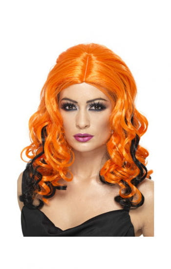 Witch Curly Wig Orange / Black