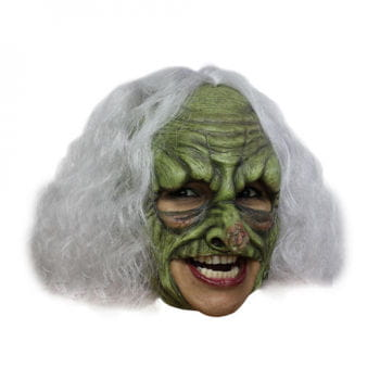 Witch Mask with White Hair
