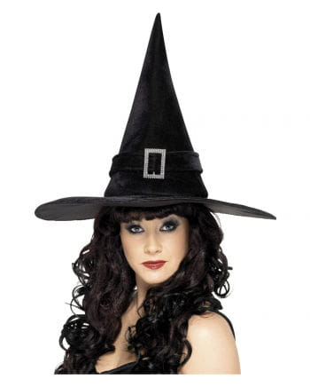 Witch hat with silver buckle