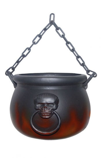 Witch Cauldron with Flames