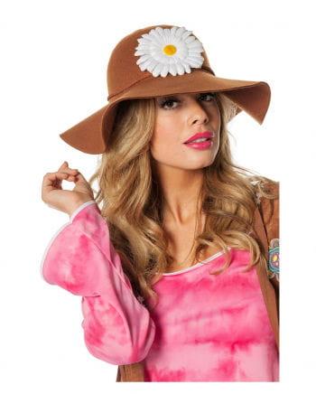 Hippie hat with flower wreath