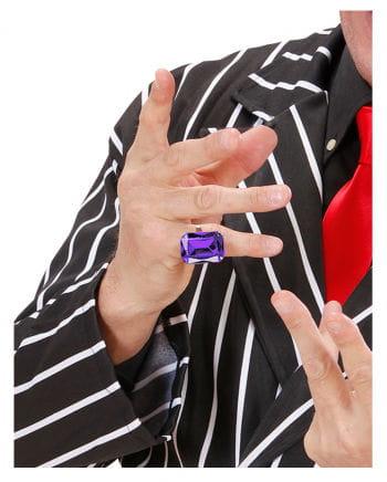 Ring with Amethyst Purple Gemstone