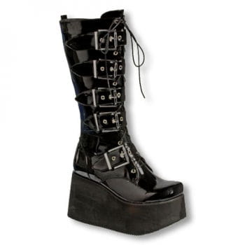 Inamagura Vinyl Platform Boots