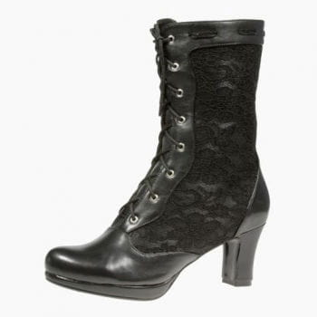 Inamagura Half Boots Black Lace