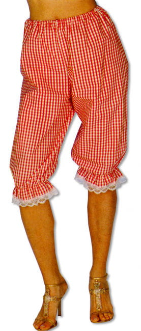 Checked Bloomers Red/White L/XL 40-42