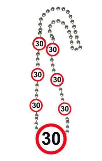 Kette Verkehrsschild 30