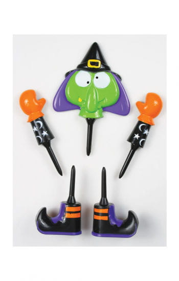 Pumpkin witch figure