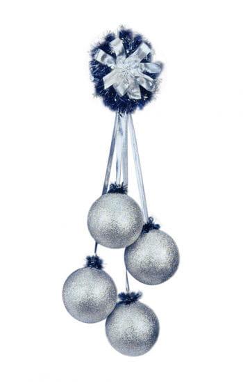 Ball Earrings silver glitter