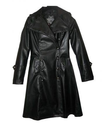 Imitation Leather Uniform Coat S