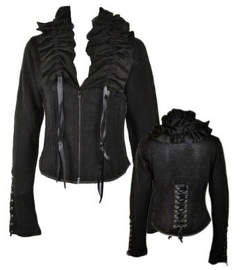 Short jacket with laces