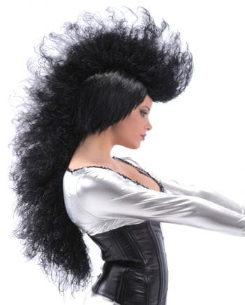 Long Punk Wig Black