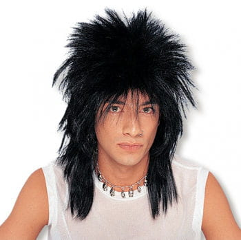 Long Hair Rocker Wig Black