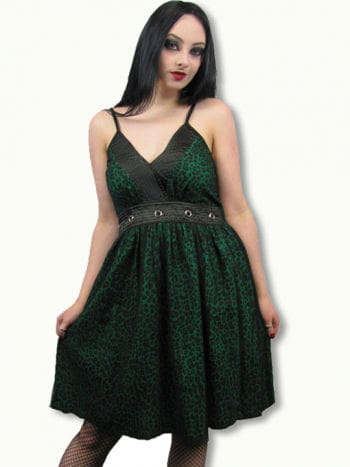 Leoparden Kleid grün