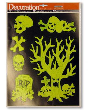 Glow in the Dark Skull Stickers