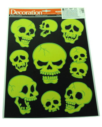 Luminous sticker set skull