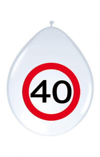 Luftballon Verkehrsschild 40