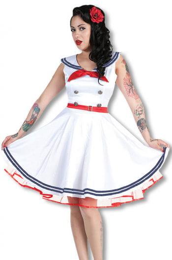 Matrosen Kleid weiß rot