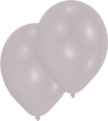 Metallic silver balloons 50 St.