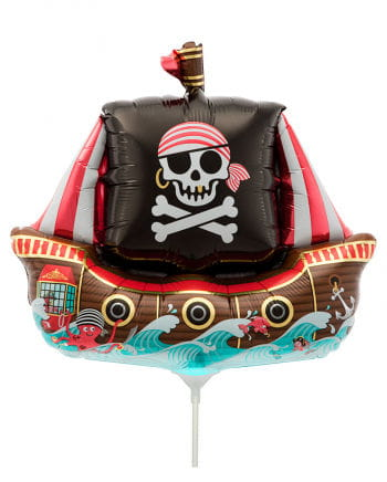 Mini foil balloon pirate ship