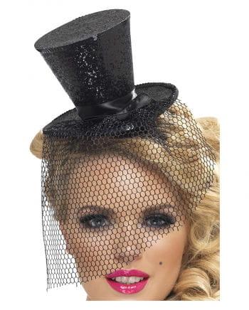Mini Hut schwarz mit Tüll