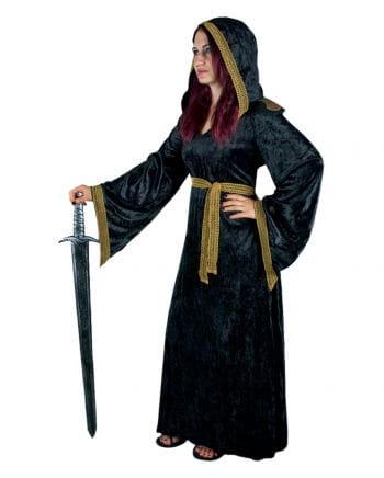 Mittelalter Priesterin Kostüm schwarz-gold L / 40
