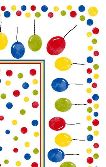 Duni Festina Tischdecke mit Luftballon Motiv