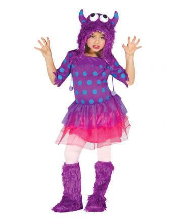 Monster Girl Mädchenkostüm Lila