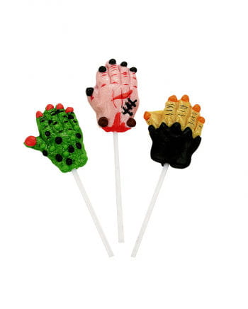 Monster hand lollipop