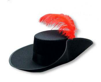 Muskeeer Hat with Red Feather