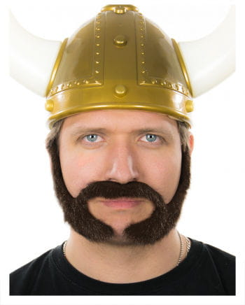 Mutton chops beard Dark Brown