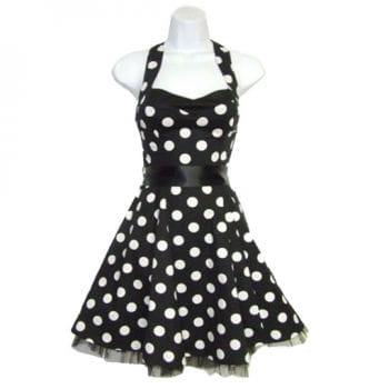 Neckholder Rockabilly Kleid schwarz-weiß