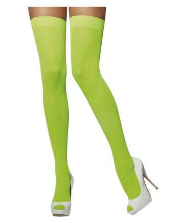 Overknees neon green