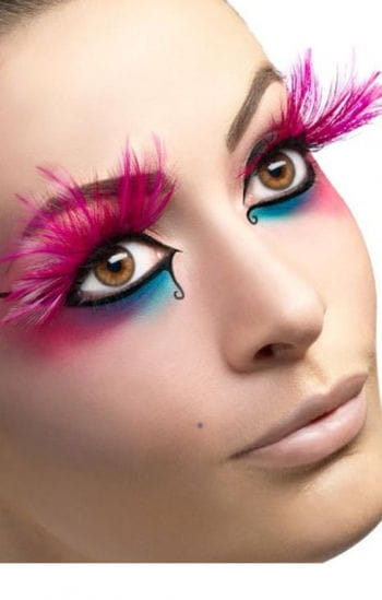Feather lashes neon pink