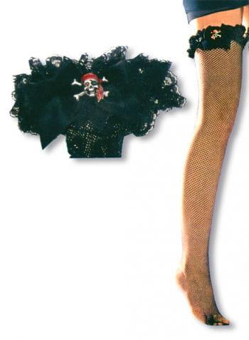 Fishnet Stockings with Pirate Skull