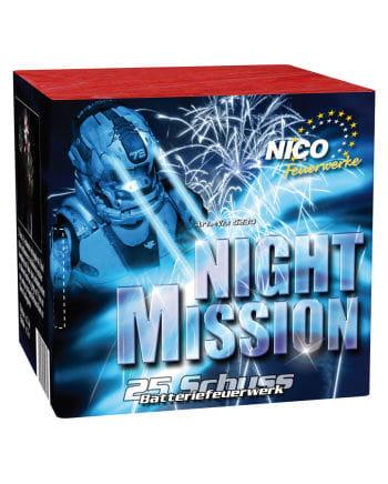 Night Mission Battery Fireworks 25 shots