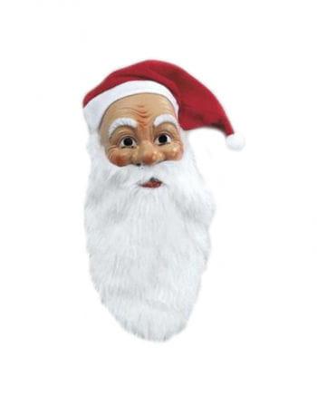 Nikolausmaske mit Plüschbart und Mütze