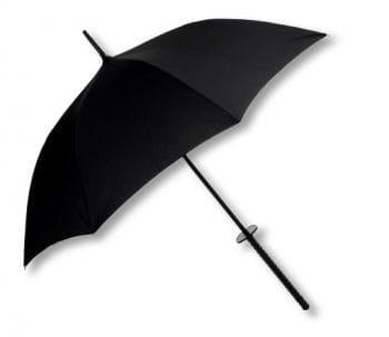 Ninja Regenschirm schwarz