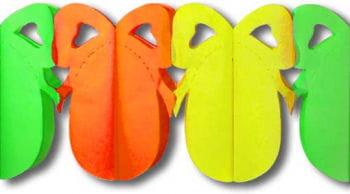 Easter Egg Garland Orange Yellow Green