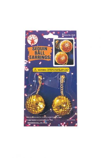 Sequin ball earrings gold