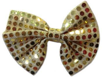 Goldene Pailletten Fliege