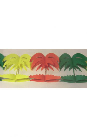 Palm trees colorful garland
