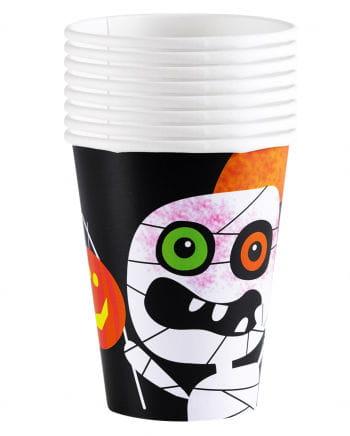 Pappbecher Halloween Monster 8 Stück