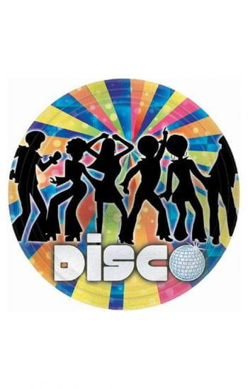 Pappteller Disco Dancer