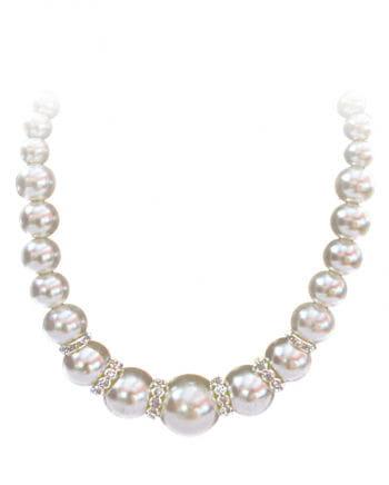 Perlenkette mit Strasssteinen