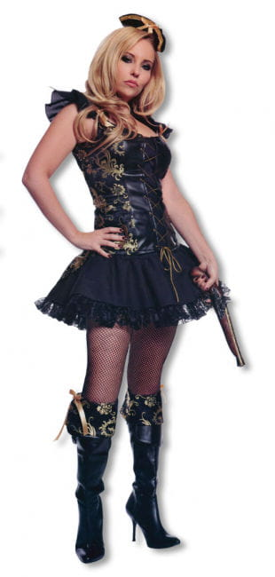 Pirate Lady Costume with Hat